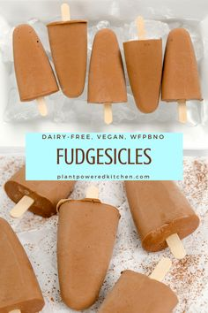 """Were fudgesicles part of your childhood? They were definitely part of mine. Along with """"big foot"""" ice creams (anyone else?), creamsicles, and pudding pops (I remember how hard it was to choose betwee"""