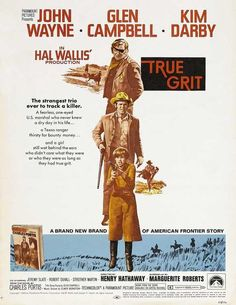 John Wayne and Kim Darby and Glen Campbell in True Grit Mini Poster 1960s Movies, Old Movies, Vintage Movies, Wayne Campbell, Glen Campbell, True Grit John Wayne, Bravura Indômita, True Grit Movie, Iowa