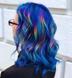 the front page of the internet Pretty Hair Color, Hair Color Dark, Hair Colour, Highlights For Dark Brown Hair, Rainbow Hair Highlights, Pretty Hairstyles, Wig Hairstyles, Short Hair Tomboy, Hair Dye Colors