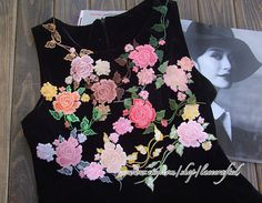 Shabby Chic Rose Flower Lace Applique Embroidery by lacecrafted, $5.80
