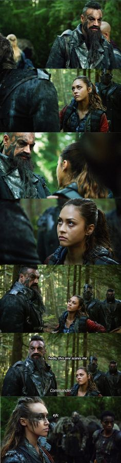 The 100 crack || Raven Reyes, Gustus, Commander Lexa || Lindsey Morgan, Aleks Paunovic, Alycia Debnam-Carey