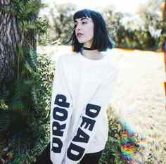 Hannah modeling some more Drop Dead stuff