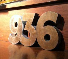 cast iron art deco house number sign 1930s 1940 door plaque number