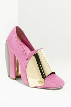 Yves Saint Laurent shield loafer pump, showcased on Refinery29 and available at Nordstrom.