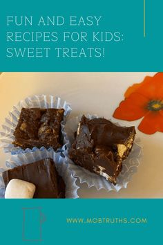 Fun and easy recipes for kids are a great way to pass the time on a cool, rainy day, or to add some fun to a weekend. I love cooking and baking with my kids, and here are four of our favorite treats to make!