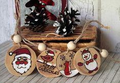 Christmas decoration Wood Slice Decoration Wood Burned first christmas Ornaments rustic christmas gift baby ornament christmas party Each decoration is approx 5 cm in diameter Natural wood We ship worldwide. The items will be mailed within 48 hours after payment, carefully packed. A