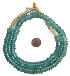 Recycled glass African beads made from crushed Coca-Cola bottles -- our most environmentally friendly beads! $12/135 beads