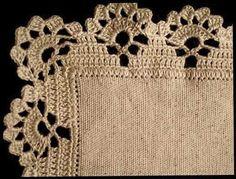 Filomena Crochet and Other Han Crochet Edging Patterns, Crochet Lace Edging, Crochet Borders, Crochet Trim, Filet Crochet, Crochet Designs, Crochet Doilies, Crochet Stitches, Fingerless Gloves Crochet Pattern