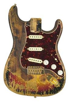 Jimi Hendrix's burned Strat - this is so great!