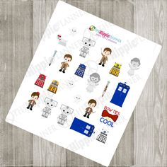 Space & Time Traveler Stickers |Doctor Who Inspired | Erin Condren Life Planners, Plum Paper, Filofax, Scrapbooking, Calendars