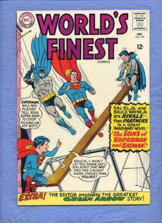 World's Finest 154 Key Hi Grade VF 8 0 Superman Batman DC 1966 Guides at $44 00 | eBay