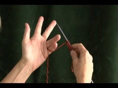 ▶ Holding the Yarn for Continental Knitting - YouTube