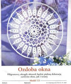 Photo from album 08 on Yandex. Crochet Doily Patterns, Crochet Squares, Crochet Doilies, Crochet Stitches, Dream Catcher Patterns, Diana, Crochet Dreamcatcher, Crochet Tablecloth, Album