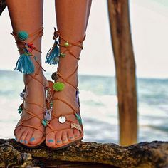 S A L E  Gypsy sandals/Leather Gladiators for by EATHINI on Etsy
