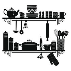 York Wallcoverings Build a Kitchen Shelf Peel and Stick Giant Wall Dec Black Home Decor Wallpaper Wall Decals Kitchen Posters, Kitchen Themes, Kitchen Art, Kitchen Decor, Kitchen Walls, Wall Sticker, Wall Decals, Kitchen Stickers, Building A Kitchen