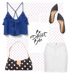"""""""Dots"""" by ari-ari-xoxo ❤ liked on Polyvore featuring York Wallcoverings, J.Crew, MANGO, Topshop and Moschino"""