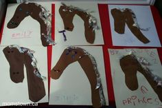 Farm birthday and craft ideas! Handprint/ Arm horse