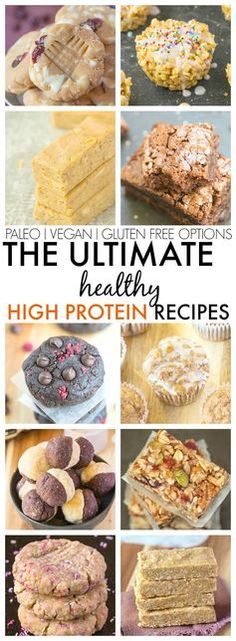 The Ultimate Healthy High Protein Recipes which taste anything but- Quick, easy and delicious! {vegan, gluten free, paleo and sugar free options}