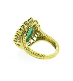 Judith Ripka Gold Green Chalcedony Tourmaline Diamond Ring 2