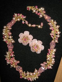 Miriam Haskell 'Hello Spring' Lovely Collar and Earrings