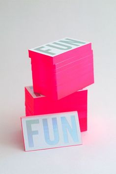 "30 Ultra-Creative Business Cards For A Killer First Impression #refinery29 http://www.refinery29.com/cool-los-angeles-business-cards#slide-2 Ban.do's website asserts that the brand is ""serious about fun"" — so, it only makes sense to have the word emblazoned on its business cards. The Los Angeles purveyor of bags, wallets, jewelry, iPhone cases, and more enlisted the help of Presshaus L.A. to create them, and we couldn't be more envious that our names aren't on the back."
