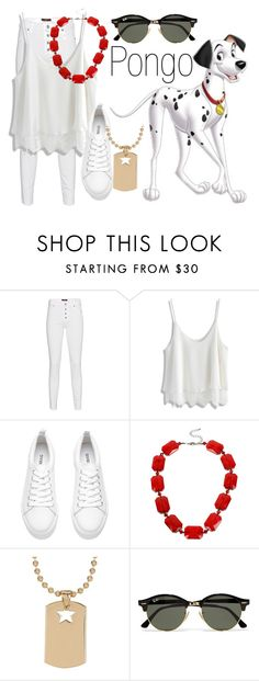 """""""Pongo~ DisneyBound"""" by basic-disney ❤ liked on Polyvore featuring Who's Who, 7 For All Mankind, Chicwish, Mixit, Rebecca Minkoff and Ray-Ban"""