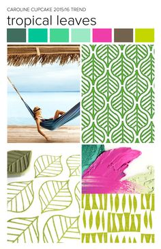 #carolinececiltextiles trend inspiration. Tropical | Island | Green | Botanical | Textiles | Fashion | Pattern | Textile Trend 2015 | Textile Trend 2016 | SS15 | SS16