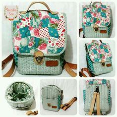 My handquilted bag TILDA backpack