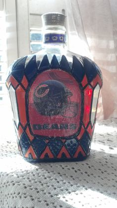Chicago Bears Crown Royal Decanter Liquor Bottle by PattiesPassion