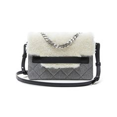 - Banana Republic Shearling-Flap Chain Shoulder Bag, $248.