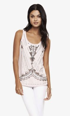 5e6146a46f ART DECO SEQUIN EMBELLISHED TANK