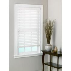 Shop allen roth White Faux Wood 25in Slat Room Darkening Window