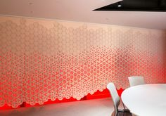 This customizable wall divider and room partition will aid with acoustics and add style to a contemporary room