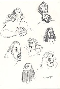 The Little Mermaid A few Triton concept sketches. Source: The Little Mermaid special edition DVD