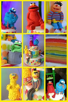 My Sesame Street Tower - so much fun & many hours in this cake! See more at https://www.youtube.com/user/cakesbysharon