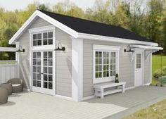Tiny Beach House, Beach Cottage Style, Tiny House, Small Houses, One Room Cabins, Backyard House, Small House Design, Log Homes, Home Fashion