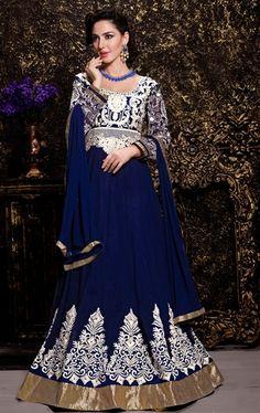 Picture of Mesmerizing Navy Blue Long Anarkali Salwar Kameez