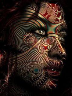 face as art