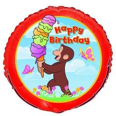 Save $1.67 on Curious George Happy Birthday 18 Mylar Balloon; only $1.72