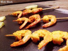 Mish-Mash: Чеснови скариди на шишчета