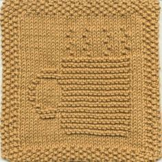 Steaming Mug Knit Dishcloth Pattern 1.79 (I think this would be cute for a coffee coaster too:)