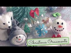 DIY Holiday Ornaments - Decorating Christmas Bulbs - 8 Easy Designs - YouTube