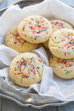 Amish Sugar Cookies - I've been looking for a recipe for this type of sugar cookie for years. They are they are the kind that your grandma would keep in the cookie jar, the crisp, melt away in your mouth kind. I love these!