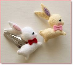 mini bunny clips and pins