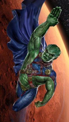 Martian Manhunter WIP by uncannyknack on DeviantArt John Gallager Dc Comics Superheroes, Dc Comics Characters, Dc Comics Art, Book Characters, Dc Heroes, Comic Book Heroes, Comic Books Art, Comic Art, Comic Pics