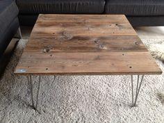 Rustikt soffbord återvunnet trä