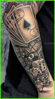 60 Photos of Male Tattoos on the Forearm Pictures and Tattoos diy tattoo - diy tattoo images - diy t Forarm Tattoos, Forearm Sleeve Tattoos, Best Sleeve Tattoos, Tattoos Masculinas, Best Male Tattoos, Tatoos Men, Poker Tattoos, Tatuajes Tattoos, Forearm Tattoos For Guys