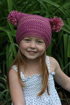 Double Pom Pom Hat Free Crochet Pattern for Beginner