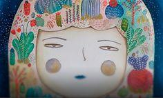 Ilustración, La niña que amaba la naturaleza de Elizabeth Peña   Leer más: http://www.colectivobicicleta.com/2016/02/ilustracion-de-eliblue.html