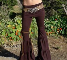 Zumi Yoga Pants  with adjustable skirt  In black by ElvenForest, $94.00
